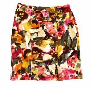 Sunny Leigh Bold Floral Pattern Pencil Skirt-SZ 10